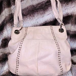 Shopper Bone Leather Shoulder Bag
